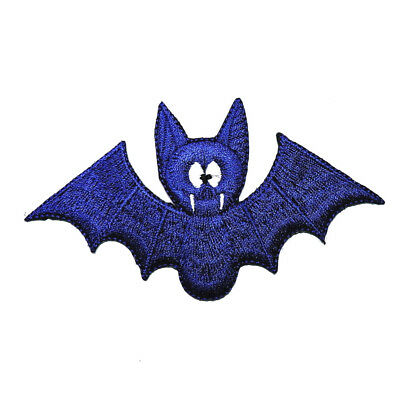Blue Vampire Bat Animal dracula Cartoon Helloween DIY Cloth Jacket Iron on patch