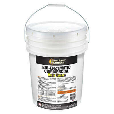 INSTANT POWER PROFESS Commercial Drain Cleaner,5 gal.,Bottle, 8882, Clear Yellow