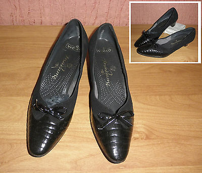 Vintage WOLKO Madame Damenschuhe Pumps schwarz Leder leather shoe woman Gr.6 39
