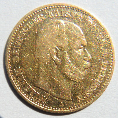 5 Mark Gold A  Preussen Wilhelm 1877