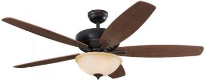 Harbor Breeze Aberly Cove 60-in Ceiling Fan with Light Kit Remote Bronze Indoor