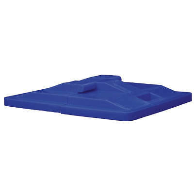 ROYAL BASKET TRUCK Poly Hinged Lid,6 Bu,Blue, G06-BLX-LDN