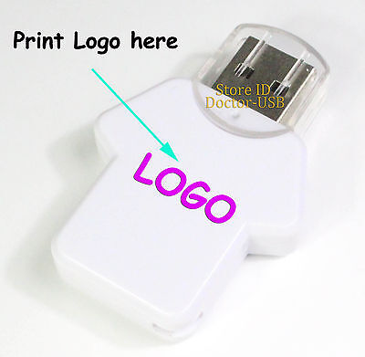 100PCS 128MB T Shirt USB 2.0 Flash Drives Thumb Stick Disk Free Customized LOGO