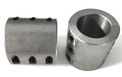 """2 Steel tube clamps bolt on 1.875"""" 1 -7/8"""" roll cage mounts Can-Am Kawi Teryx"""