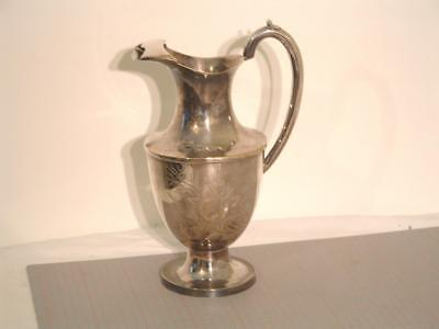Antique Engraved Silver Plated Ewer / Jug / Pitcher 30cm. high x 19cm.