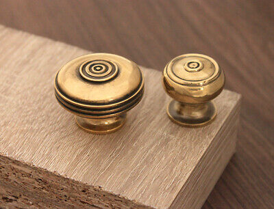 Aged Brass Antique Regency Style Bloxwich Cabinet knobs 2 sizes Solid Brass