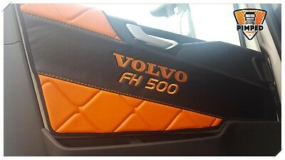 Door cards Volvo FH4 ECO LEATHER Any color+ embroidery