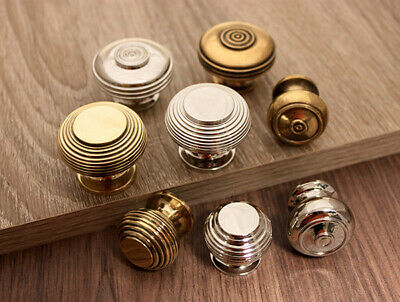 Antique Beehive Bloxwich Old Style Cabinet Knobs Solid Brass/ Nickel 30mm/ 40mm