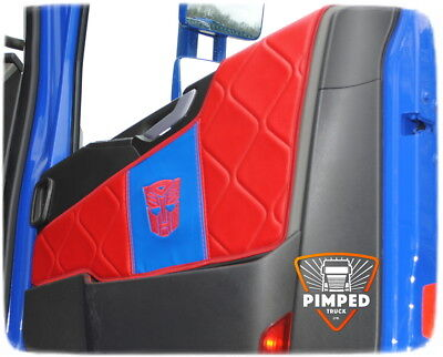 Door cards Volvo FH4 ECO LEATHER Any color+ embroidery square