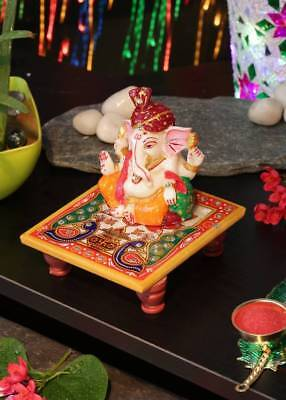 Indian Lord Ganesha Statue For Diwali New Year Ganpati Pooja Hindu Festivals