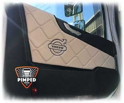 Door cards Volvo FH4 ECO LEATHER Beige, available smooth +embroidery