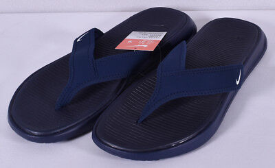 102a838c24f93 NIKE ULTRA CELSO Thong Mens 882691-401 Midnight Navy White Sandals ...
