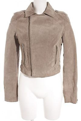 REVIEW LEDERJACKE GRAUBRAUN Casual Look Damen Gr. DE 38