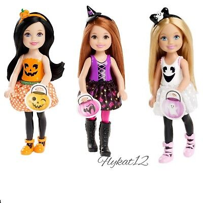 Barbie Chelsea Halloween Ghost, Pumpkin, and Witch Dolls Target Exclusive