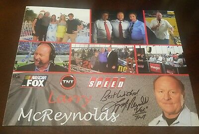 larry mcreynolds signed 8x10 autographed picture photo nascar racing fox sports