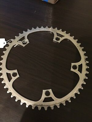 NOS VERY RARE GOLD CHAINRING 46 THEETH 144 BCD CAMPAGNOLO VINTAGE 80/'S