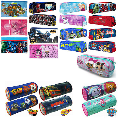 New Kids Boys Girls Official Character Tube Barrel Pencil Case Back To School