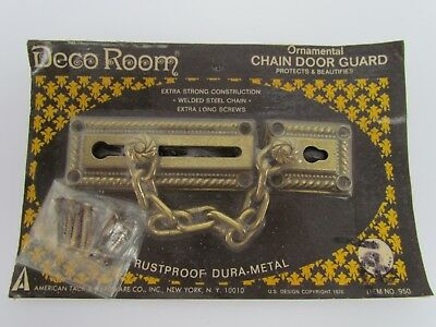 Fancy Vintage Steel Ornamental Door Sliding Chain Plate Anchor Lock Rust Proof