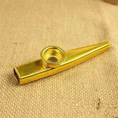 1x Gold Silver Kazoo Aluminum Alloy Metal with Flute Diaphragm Gift for Kids DA
