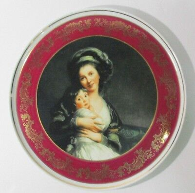 "Limoges 12"" Vintage Collector Plate Portrait Vigee Lebrun FrenchBone China"