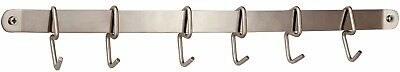 Pro Chef Kitchen Tools Stainless Steel Utensil Hanging Rack - 6 Hooks To Hold an
