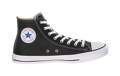 c282ada702083e Converse Shoes Chuck Taylor All Star Hi Top Black Leather Mens Womens  Sneakers