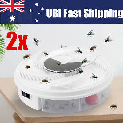 2X Electric USB Automatic Flycatcher Fly Trap Mosquito Reject Control Catcher AU