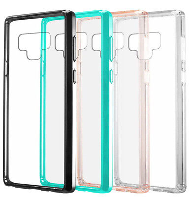 for Samsung Galaxy Note 9 - Hard TPU Rubber Gummy Transparent Phone Case Cover