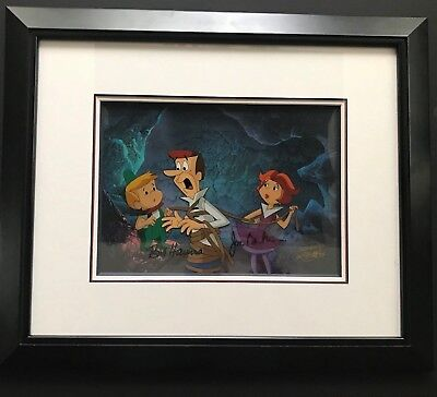 Jetsons the Movie Original Hand Painted Production Cel Signed by Hanna Barbera
