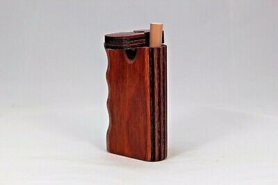 "3"" Dugout One Hitter Charbolo Diamond Wood Twist Top With Aluminum Cigarette"