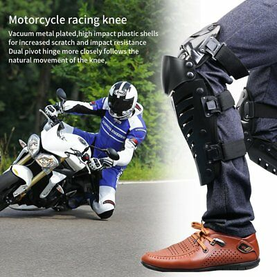 1 Pair of Adults Knee Shin Armor Protect Guard Pads for Motorcycle Racing QC