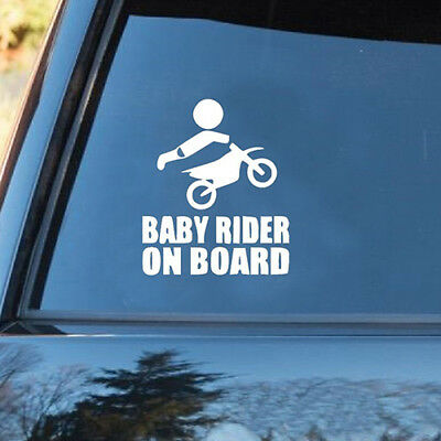 Cn_ Baby Rider On Board Words Sign Car Stickers Warning Cute Decal Cheerful