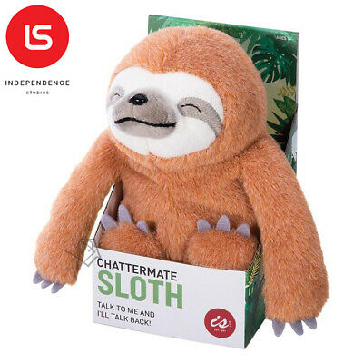 NEW Chattermate - SLOTH - Repeats Everything You Say Plush Toy Talking Moving