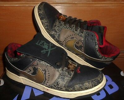 huge discount 242cd 6eecf 2006 NIKE DUNK LOW PREMIUM SB SBTG SABOTAGE ROYALE FAM 313170-201 sz 10.5  BOXED