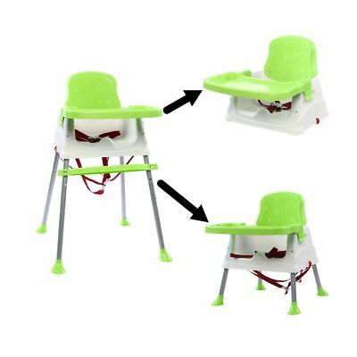 Baby/Kids High Chair Convertible Table Seat Booster Toddler Feeding Highchair US