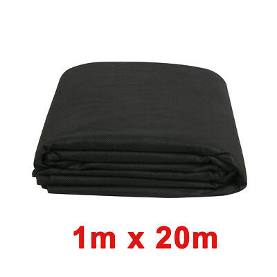 1m x 20m Weed Control Fabric Membrane Landscape Mulch Garden Ground Cover Sheet