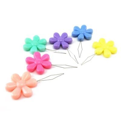 2 X Flower Easy To Use Needle Threaders In 8 Colours Available.you Choose.