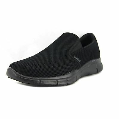 Skechers Men's Sport Memory Foam Shoes Equalizer Shryke Slip On All Black 51546