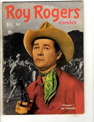 Roy Rogers # 39 FN 1951 Dell Golden Age Comic Book Photo Cover Western JL14