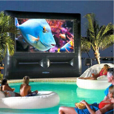 8*4m New Oxford Cloth Airblown Inflatable Movie Screen Outdoor Movie Cinema