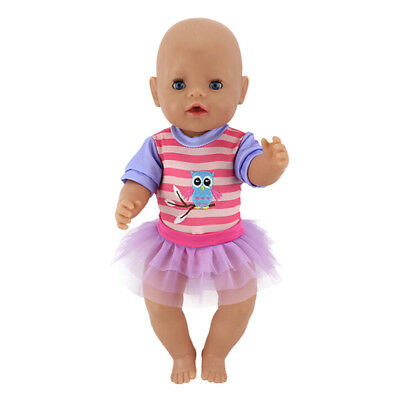 """doll jumpsuit+skirt for 43cm baby born zapf 18"""" american girl doll clothes JFAU"""
