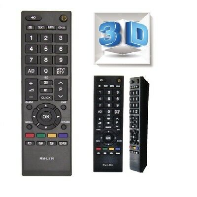 Universal Toshiba LCD TV General Remote Control LED/LCD/HDTV HD RM-L890 New
