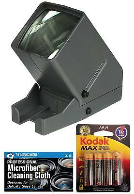 Medalight 35mm Desk Top Portable LED Negative and Slide Viewer + AA Batteries +