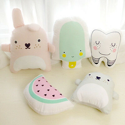 Kids Cute Cotton Cushion Baby Catoon Pillow Baby Room Decor Child Bed Doll