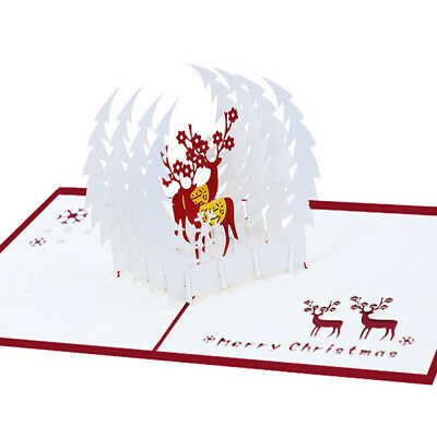 Christmas 3D Cards Pop Up Greeting Holiday Cards Gifts for Xmas Greeting Cards