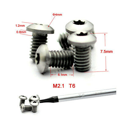 3pcs Stainless Steel Rivets M2.1 T6 Screws For Tactical Knife Pocket Clip 7.5mm