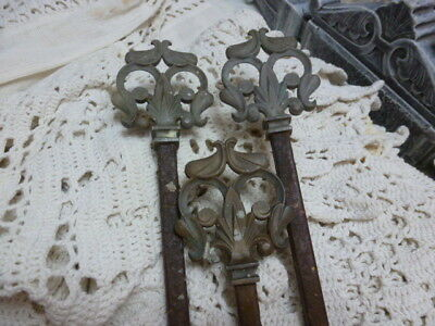 Antique Victorian Swing Curtain Rod Salvage Cast Metal Rustic Garden Style Decor