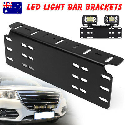 Number Plate Holder Mount Bracket Car Led Driving Light Bar Spot Licence Free