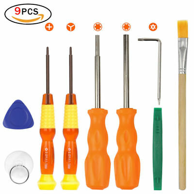 9pcs Screwdriver Repair Tool Kit for Nintendo Switch New 3DS and Wii/NES/SNES/DS