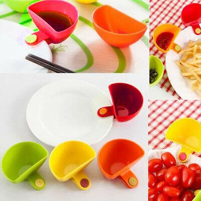 4X Assorted Salad Sauce Ketchup Jam Dipzy Clips Dipping Cup  Kitchen Tableware